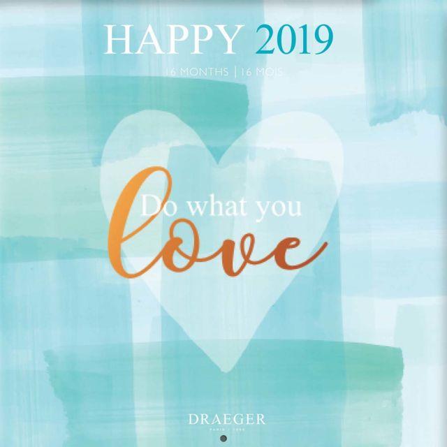 Grand Calendrier Mural 2019.Nouvelles Images Grand Calendrier Mural 29x29cm Happy 2019