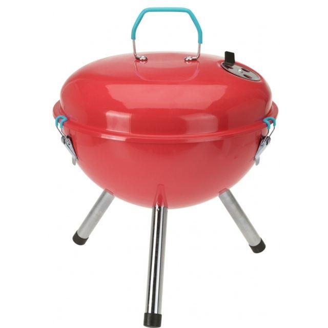 d2a9292d8f3de9 Barbecue rond au charbon de bois - 36 x 28 x 35 cm - Rouge - pas cher Achat    Vente Barbecues charbon de bois - RueDuCommerce