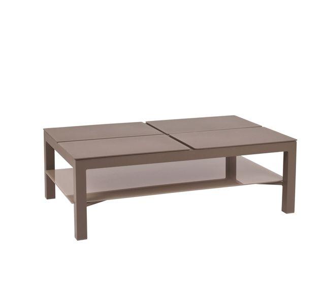 bf3da9d14fa4a Lebrun - Table basse aluminium terre d ombre Island - pas cher Achat ...