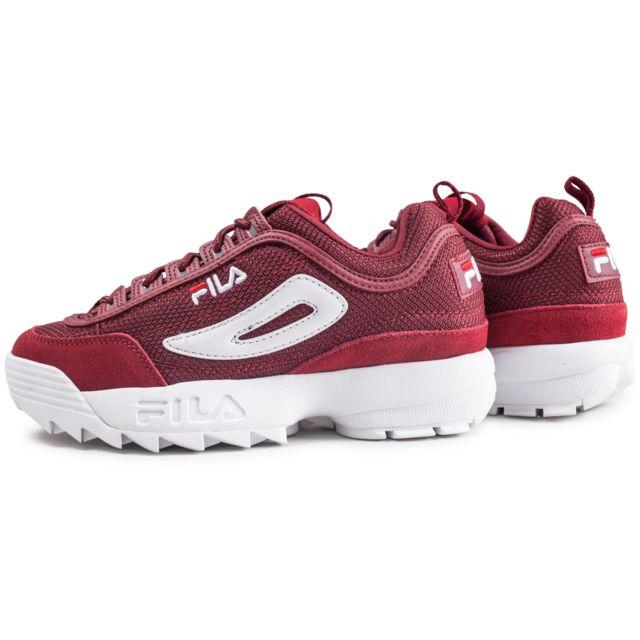 chaussure fila bordeaux