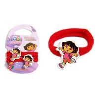 Dora l'Exploratrice - 2 chouchous cheveux rouges