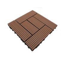 mccover dalle de terrasse bois composite classic 30 x 30 cm coloris terre - Dalle Terrasse Composite 50x50