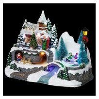 Jja - Village de Noël modèle église animé et lumineux