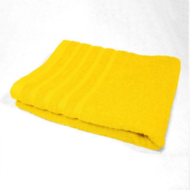 Douceur D'INTERIEUR Serviette de toilette 90 x 150 cm jaune