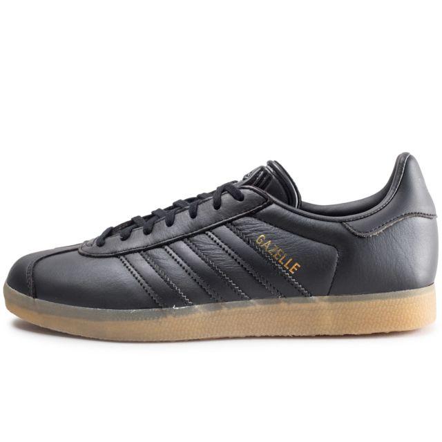 Adidas Gazelle Noire Gum pas cher Achat Vente Baskets