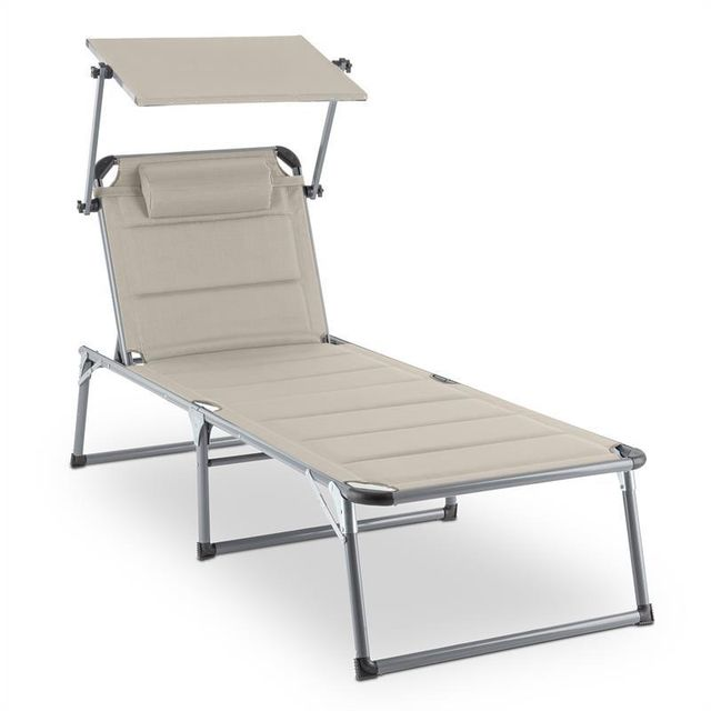 BLUMFELDT Amalfi Creamy Beige Chaise longue 70x37x200cm Pare-soleil -beige