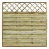 Vidaxl - Panneau de clôture carré en bois avec treillis 180 x cm