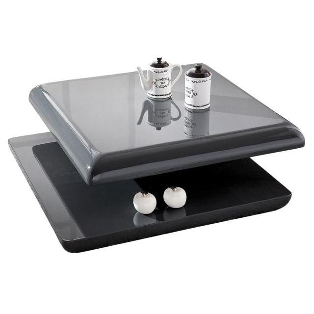 Comforium Table basse modulable gris foncé