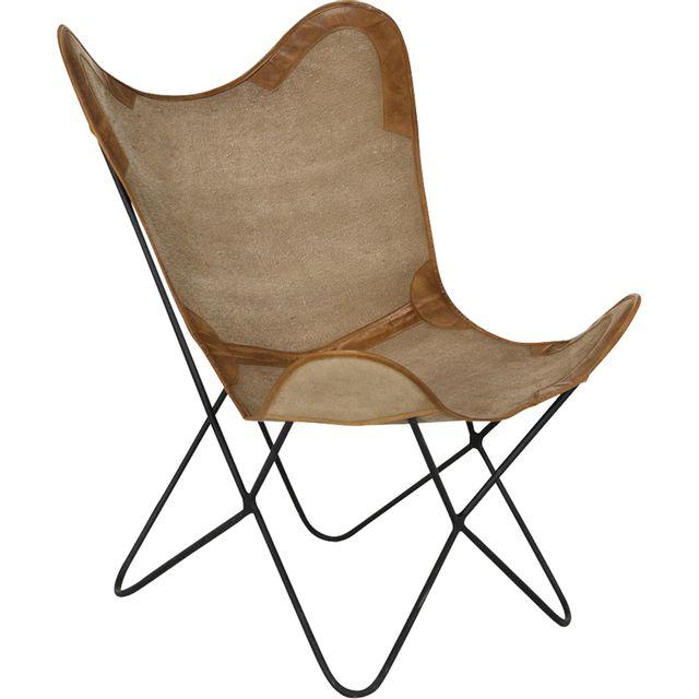 alin a butterfly fauteuil avec assise en toile de jute pas cher achat vente rideaux douche. Black Bedroom Furniture Sets. Home Design Ideas