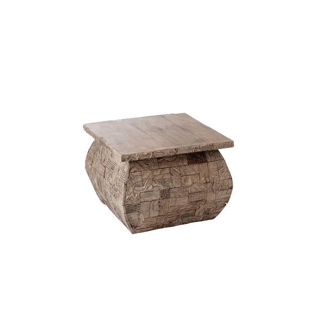 Table gigogne carrée 60x45cm en bois gris