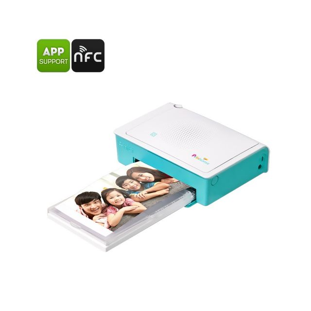 Auto-hightech Imprimante photo 300DPI Impression 47s Photos 4x6 pouces Nfc App Android + iOS