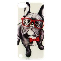 Techexpert - Coque souple en Tpu bulldog à lunettes pour ipod touch 5 et ipod touch 6