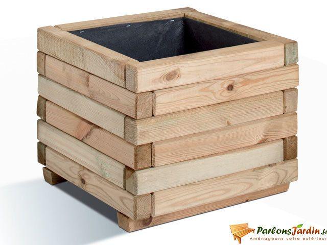 jardipolys jardini re carr e en bois stockholm 40 pas cher achat vente poterie bac. Black Bedroom Furniture Sets. Home Design Ideas