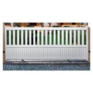 sonnier bois panneaux menuiserie portail aluminium capon coulissant longueur 3 5m pas. Black Bedroom Furniture Sets. Home Design Ideas