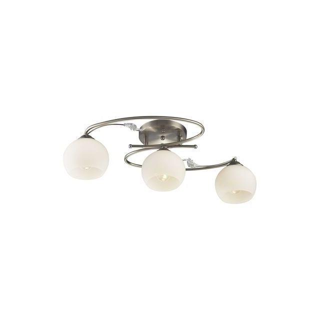Esto Lighting Plafonnier à spot Acier brossé Romantica 3x 60W 997106-3