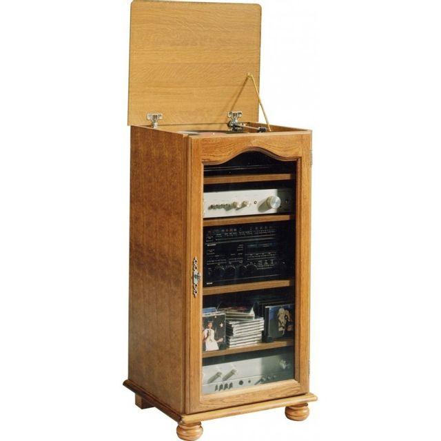 soldes beaux meubles pas chers meuble rangement hifi ch ne rustique dessus relevable marron. Black Bedroom Furniture Sets. Home Design Ideas