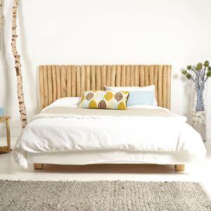 tikamoon t te de lit en bois de teck flott 180 river. Black Bedroom Furniture Sets. Home Design Ideas