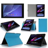 Xeptio - Sony Xperia Z2 Tablet - Housse protection Ultra Slim Cuir Style bleu - Etui coque