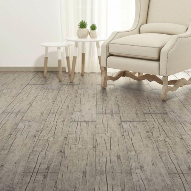 Icaverne - Tapis et revêtements de sol selection Planche de plancher PVC 5,26 m² Couleur de chêne délavé