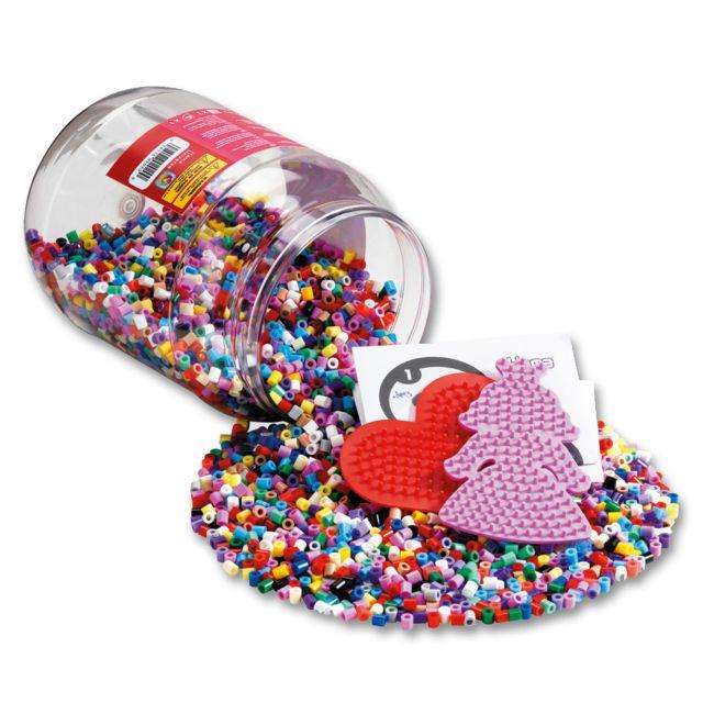 Hama Baril de 7000 perles Midi et deux petites plaques Princesses et Coeur