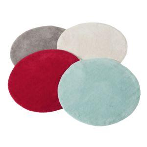 tex home tapis de bain rond en coton turquoise pas cher achat vente tapis de bain. Black Bedroom Furniture Sets. Home Design Ideas