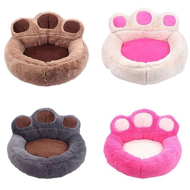 Sofa Chien Chat Animal De Companie Coussin Lit Couchage Forme Patte Taille L