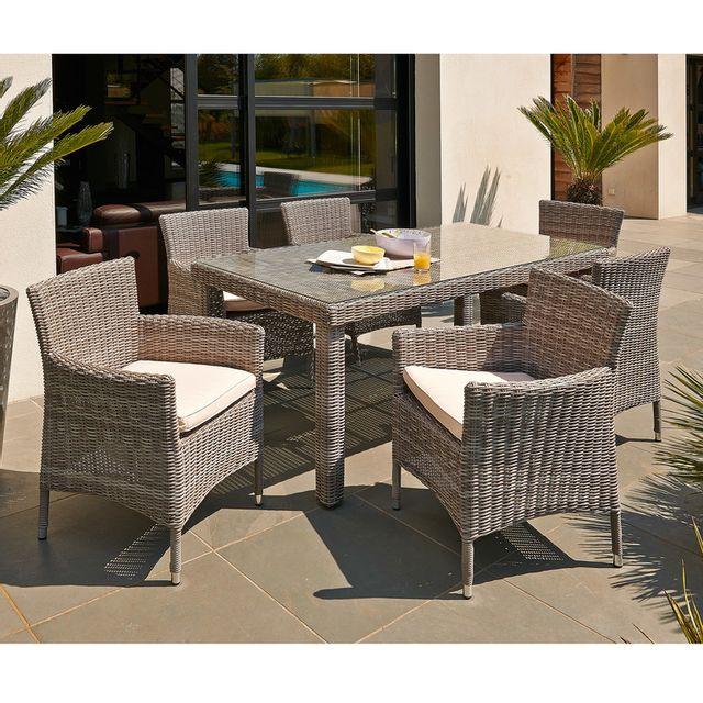 dcb garden salon de jardin 6 places table r sine. Black Bedroom Furniture Sets. Home Design Ideas