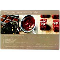 Promobo - Planche A Découper En Verre Design Gourmand Recette Brownies 20x30cm
