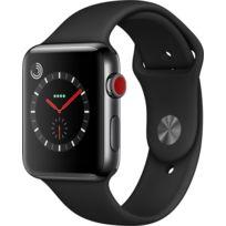 Watch 3 Cellular 42 - Acier noir / Bracelet Sport noir