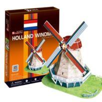 Cubic Fun - Puzzle 53 PiÈCES - Puzzle 3D - Moulin Hollandais