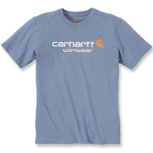 4a3d6a5a56f CARHARTT - T-shirt coton manches courtes logo poitrine bleu très clair M  S1101214991M
