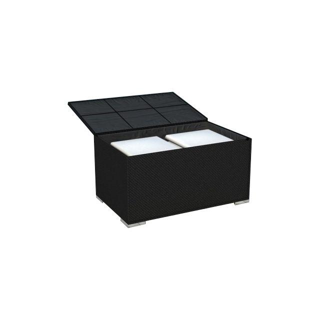delorm coffre de jardin r sine tress e noire pas cher achat vente coffre de jardin. Black Bedroom Furniture Sets. Home Design Ideas