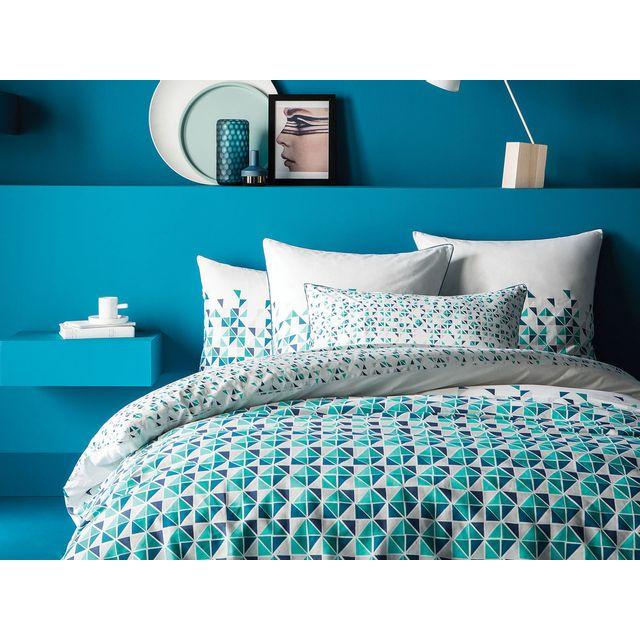 matt housse de couette 260x240 coton triangle graphique. Black Bedroom Furniture Sets. Home Design Ideas