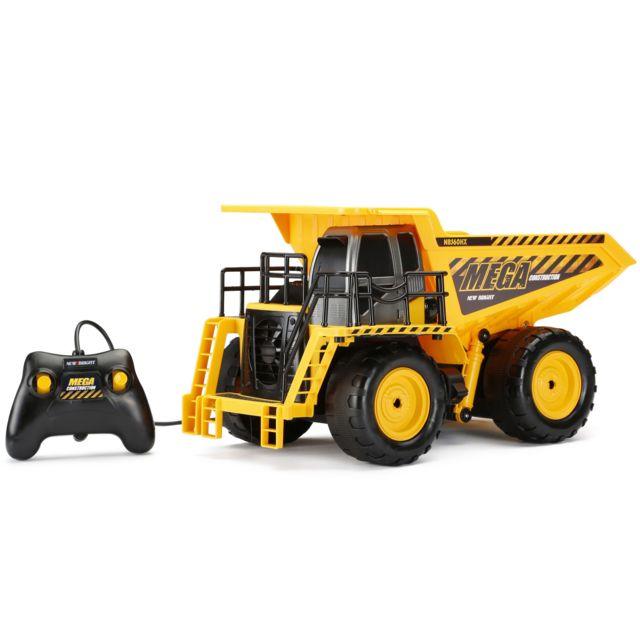 NEW BRIGHT Camion benne filoguidé - L 38,9 x l 24,9 x H 20,2 cm - 560-5 Camion benne filoguidé d'une taille de L 38,9 x l 24,9 x H 20,2 cm. Transportez les débris de votre chantier avec votre super camion benne toutes fonctions!