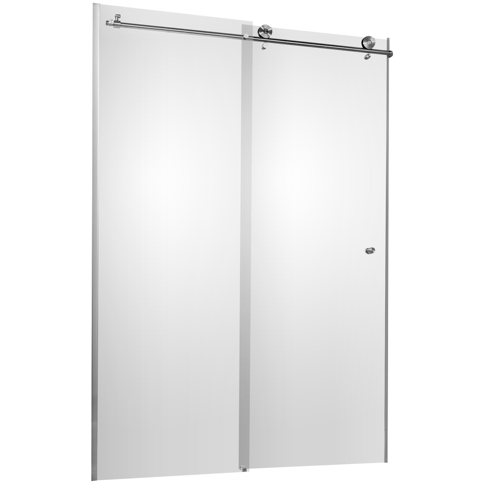 Portes de douche coulissantes, 160 x 200 cm, verre transparent, MasterClass