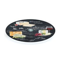 Jd Diffusion - Plateau Tournant En Verre World Of Cheese
