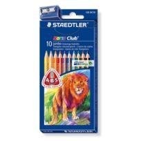 Staedtler - Triplus 326C100 Etui De 10 Crayons De Couleur Triangulaires