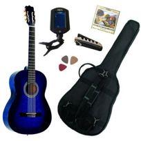 Msa - Pack Guitare Classique 1/2 Pour Enfant 6-9ans, Avec 5 Accessoires bleu