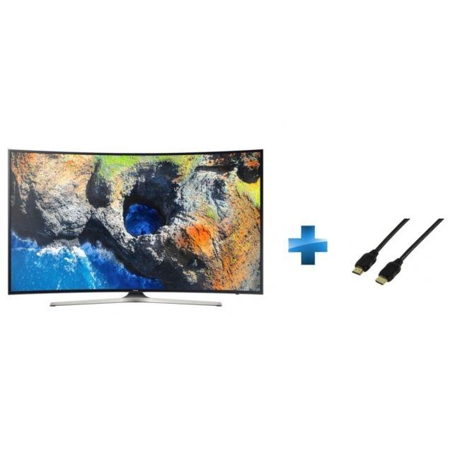TV LED 65'' - UE65MU6272U + Cordon HDMI 1.4 - 1.5 mètres small