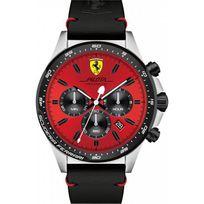 Ferrari Montres - Montre 0830387 - Montre Chronographe Noir Cuir Homme
