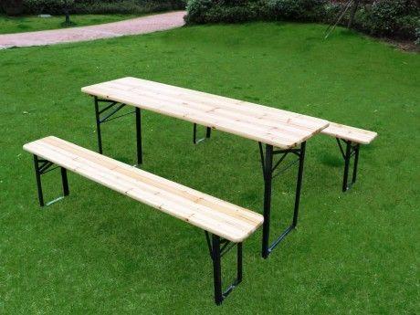 Marque Generique Table de pique-nique avec deux bancs pliants Java