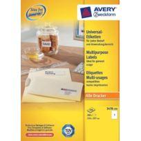 Avery - Dennsion Zweckform - Zweckform 3478-200 Lot de 3000 étiquettes universelles 210 x 297 mm pour imprimante laser et jet d'encre Import Allemagne
