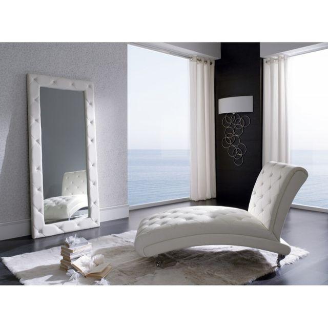 Miroir rectangulaire blanc for Immense miroir