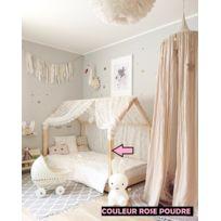 Lit Enfant Rose Poudre Achat Lit Enfant Rose Poudre Pas Cher Rue - Lit cabane rose