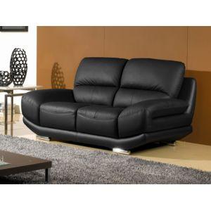 la maison du canap canap cuir 2 places barcelona. Black Bedroom Furniture Sets. Home Design Ideas