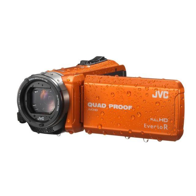JVC Caméscope à mémoire GZ-R415DEU capteur CMOS 2,5 mégapixels - Enregistrement AVCHD Full HD -étanche à 5 m, anti-poussière, antichoc à 1,5 m et antigel -stabilisateur d'image