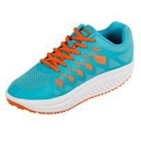 Drainaflex - Basket Balancing Shoes - semelle Marche Active - Bleu et orange Taille - 38