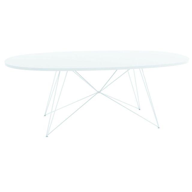 Magis Table Xz3 - blanc laqué - Mdf blanc - oval