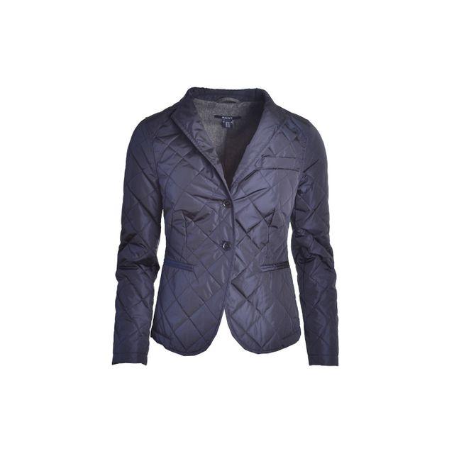 Gant - Veste bleu marine Matelassée pour femme - pas cher Achat   Vente  Doudoune femme - RueDuCommerce 30683d146b9a