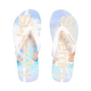 Tongs Superdry Aop Flip Flop Optic / Candy Coral rHC0R